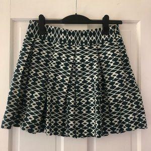 Banana Republic Green/Black/Cream skirt